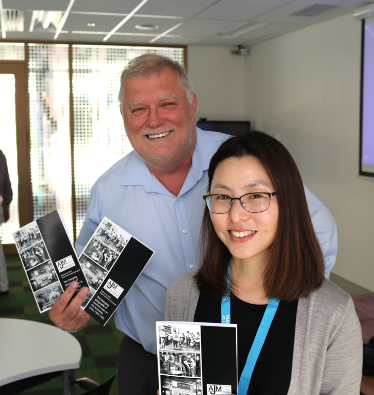Professor Peter Putnis and PhD candidate Jee Young Lee with their recently published paper