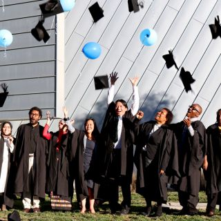 University of Canberra Australia Awards students celebrated the end of their studies with a farewell ceremony on campus