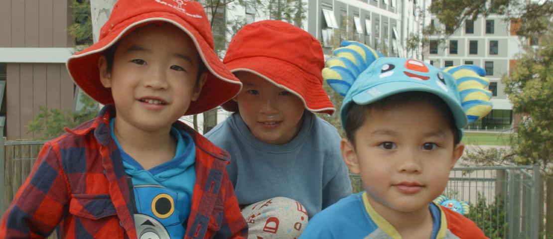 3 boys who attend Wiradjuri Preschool