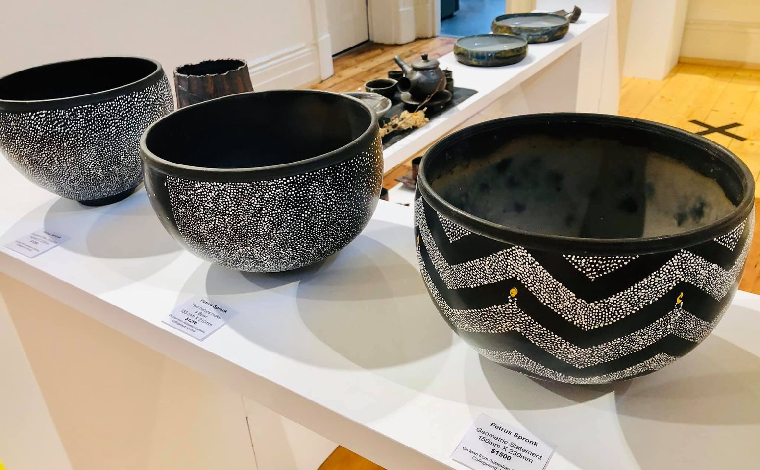 Ceramic bowls by Petrus Spronk