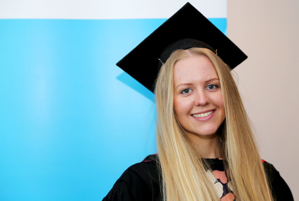 Caroline Gouws graduated with a Bachelor of Human Nutrition (Honours) from the University of Canberra on 13 April