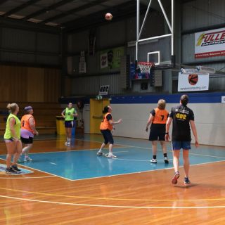 Kelsey Griffin takes part in a social game of basketball