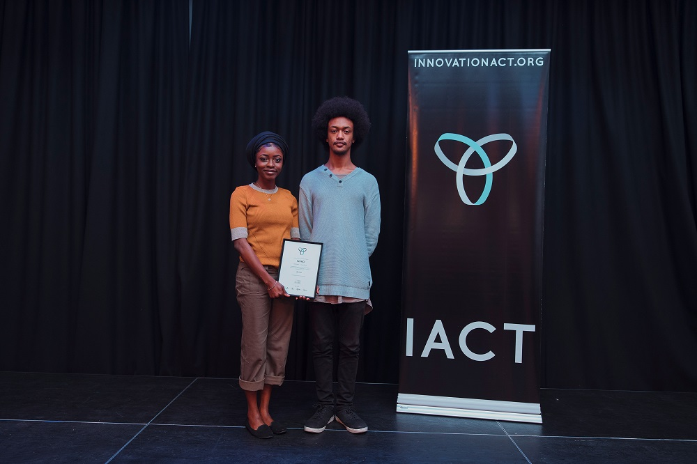 Saida Abdul (left) and Anania Esayas formed Team Infro, who have come up with an automated cash register that provides added security and efficiency.