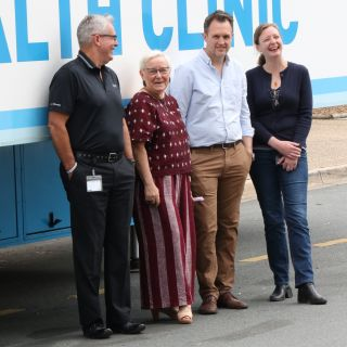 Some of the CARHI team members heading to Condobolin this weekend (L-R): Mr Ian Drayton, Dr Jordan Williams, Dr Dean Buckmaster and Dr Kate Holland.