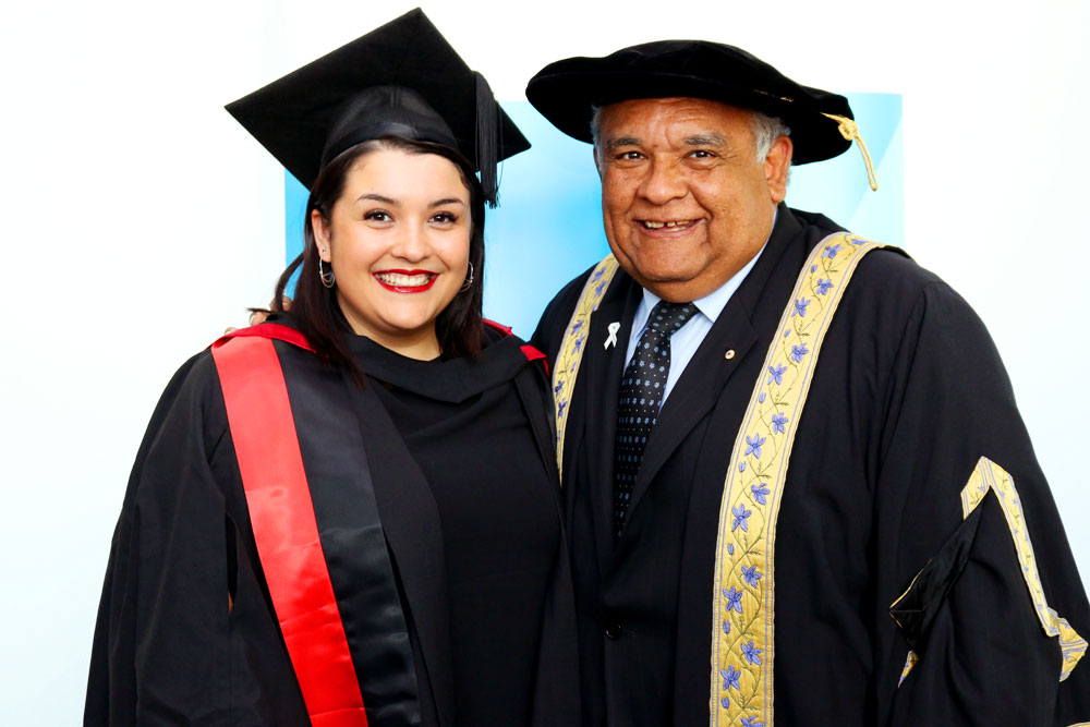 Tom Calma with his daughter