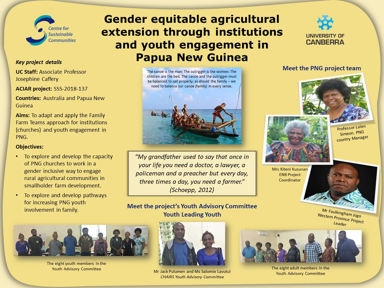 Gender equitable agriculture in PNG poster