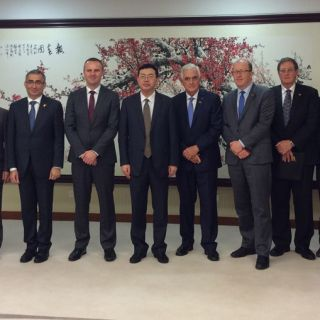 Blair Ney (third from the right) at the ACT Chief Minister's trade delegation in Shenzhen