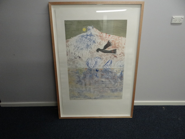 Collograph Print of Pulpit Rock by Arthur Boyd
