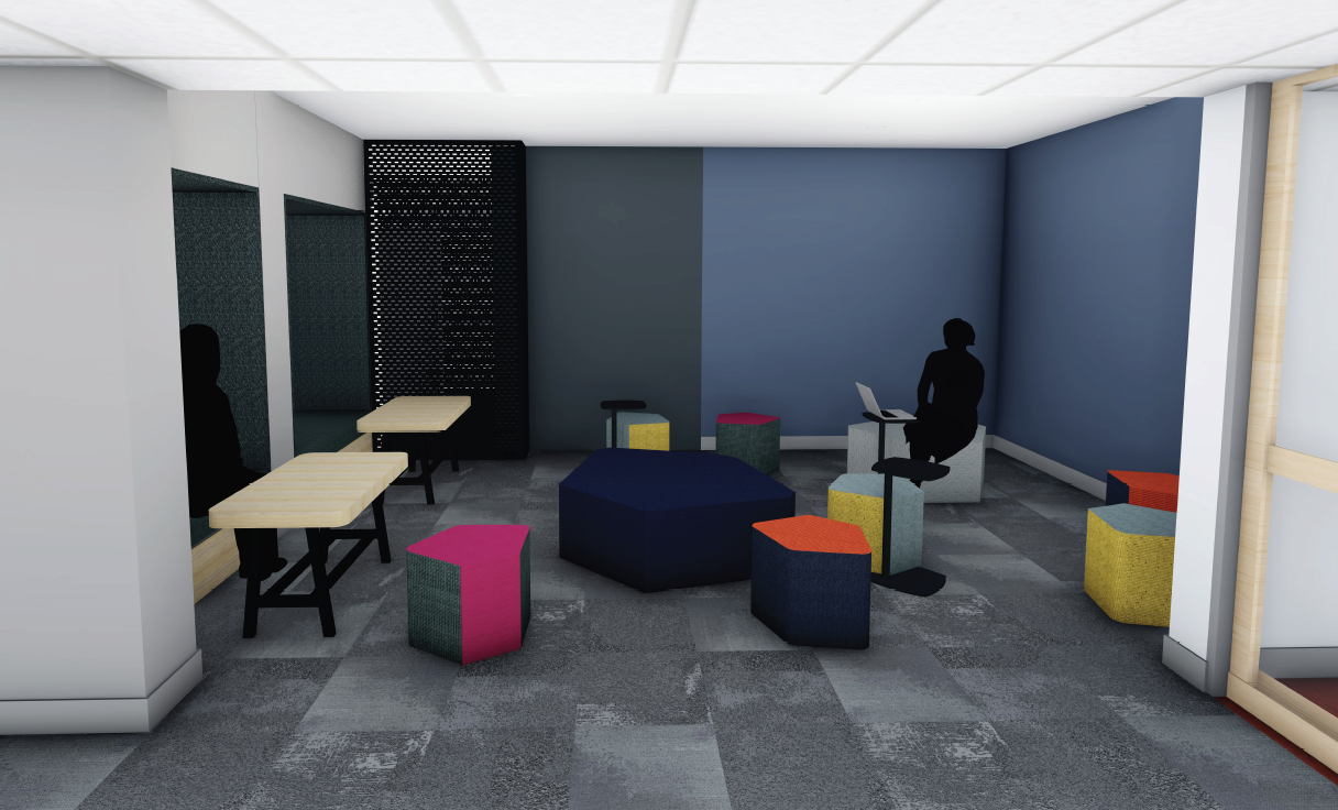 Building 10 study space render