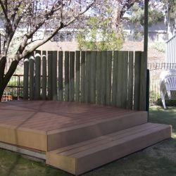 Stage for role play, performances and picnics