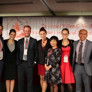 UC law team at the Willem C. Vis (East) International Commercial Arbitration Moot in Hong Kong