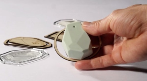 The wearable memory device is specially designed to resemble a pendant or locket one design is shown here.