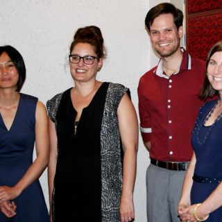 University of Canberra staff members Joelle Le, Tanika Morris, Thomas Bevitt and Lucy Gledhill have been awarded for their outstanding work at the Rotary Vocational Excellence Awards