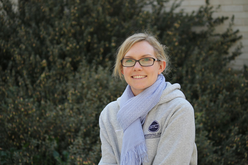 University of Canberra student Shannon Standen