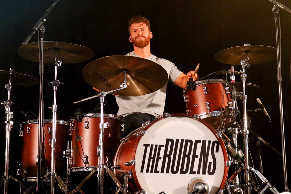 The Rubens drummer Scott Baldwin