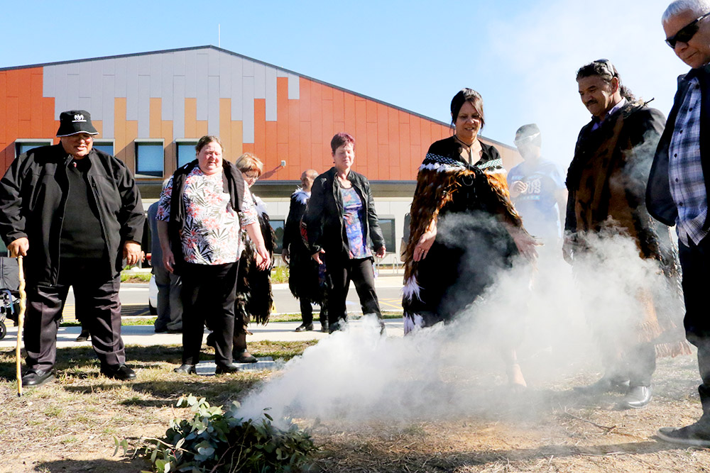 A smoking ceremony was held as part of the event
