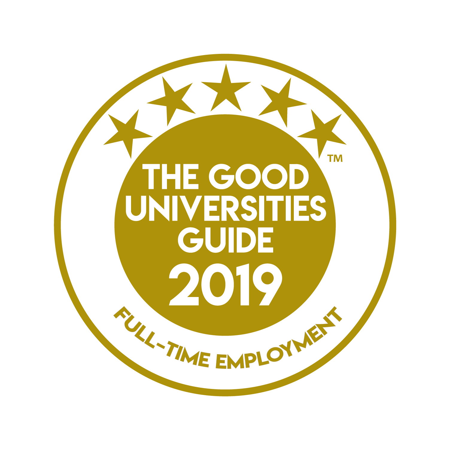 Good Universities 5 star for employment medal