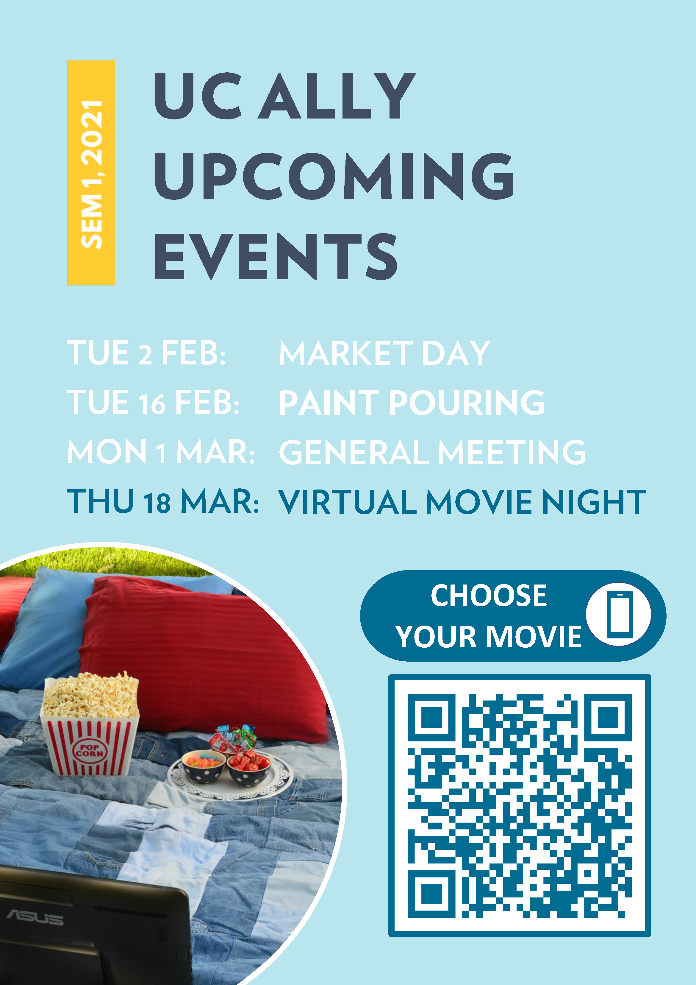 Ally Network movie night poster