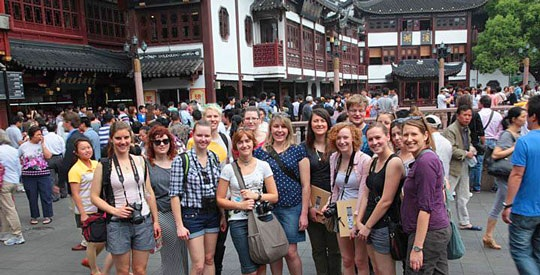 graphic design students on a study tour