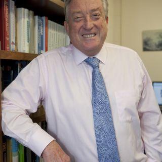 Portrait of emeritus professor Phil Lewis