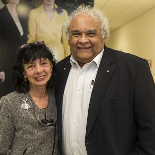 Photo of Jeanine Leane and Tom Calma AO University of Canberra Chancellor