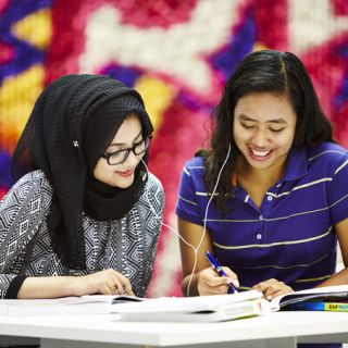 University of Canberra students studying
