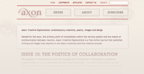 Axon: Creative Explorations journal