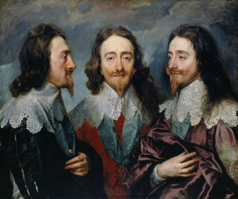 Charles I Tryptych by Van Dyck