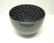 Black, White and Grey Merletto Bowl by Tom Rowney