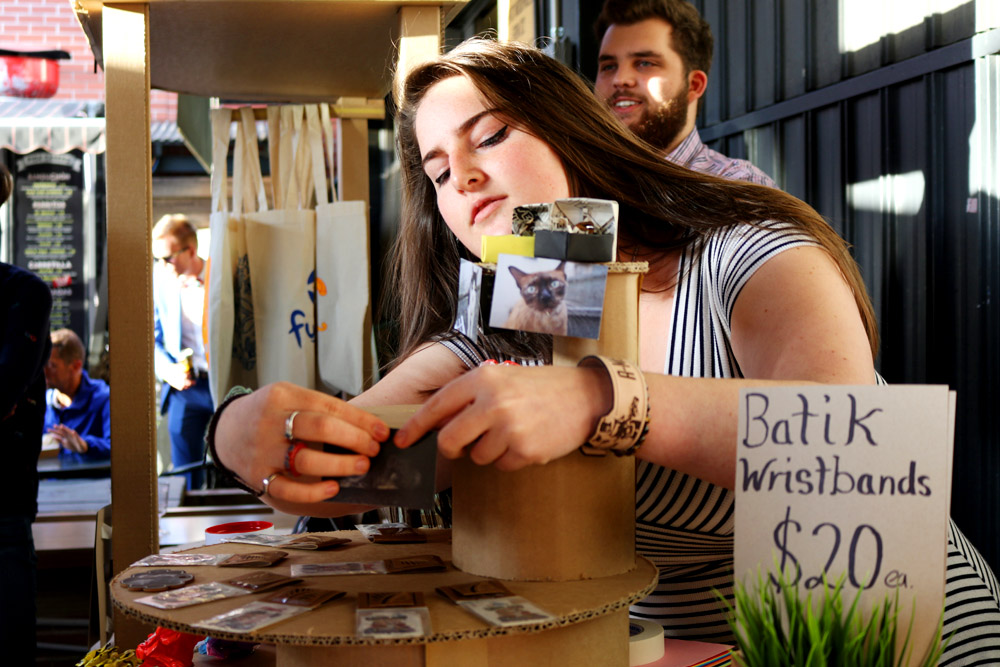 UC students showed off their skills in designing and building market stalls and handmade items at a recent exhibition