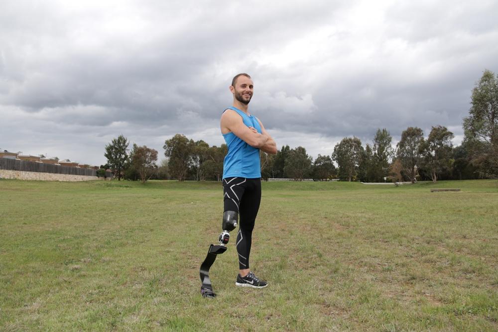 Paralympian Scott Reardon standing