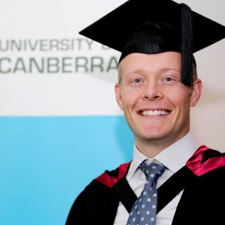 A knee injury suffered while serving in the navy led Cameron Garnock to undertake a Bachelor of Physiotherapy at the University of Canberra