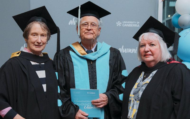 CCAE graduate trio