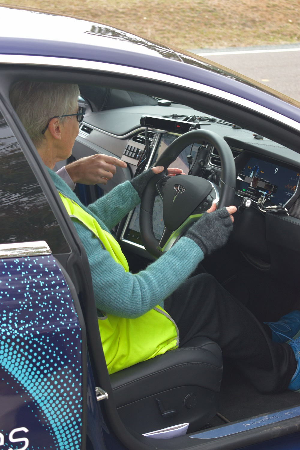 Ms Keir was comfortable with the semi-autonomous driving technology. Photo: Madeleine Wood