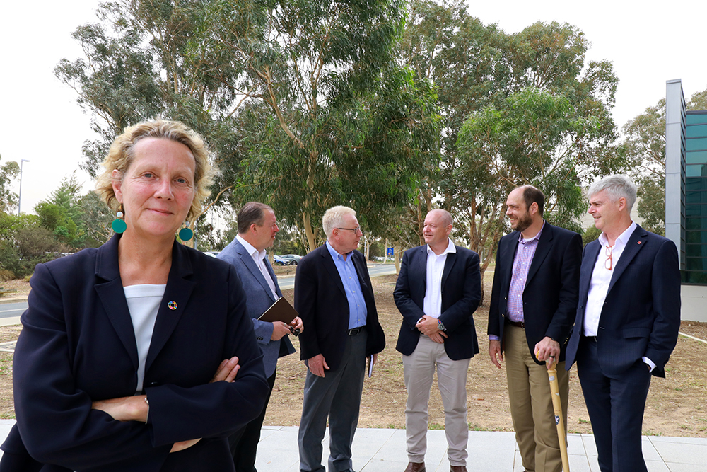 Barbara Norman with natural disaster experts