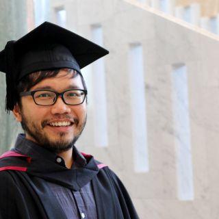 University of Canberra graduate Hakim Abdul Rahim