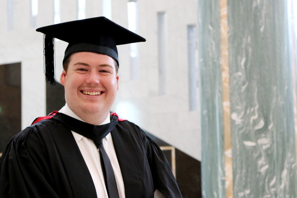 Sean Willis graduated with a Bachelor of Tourism Management and Bachelor of Sports Management double degree.