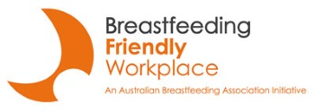 Logo for Breastfeeding friendly workplace association initiative