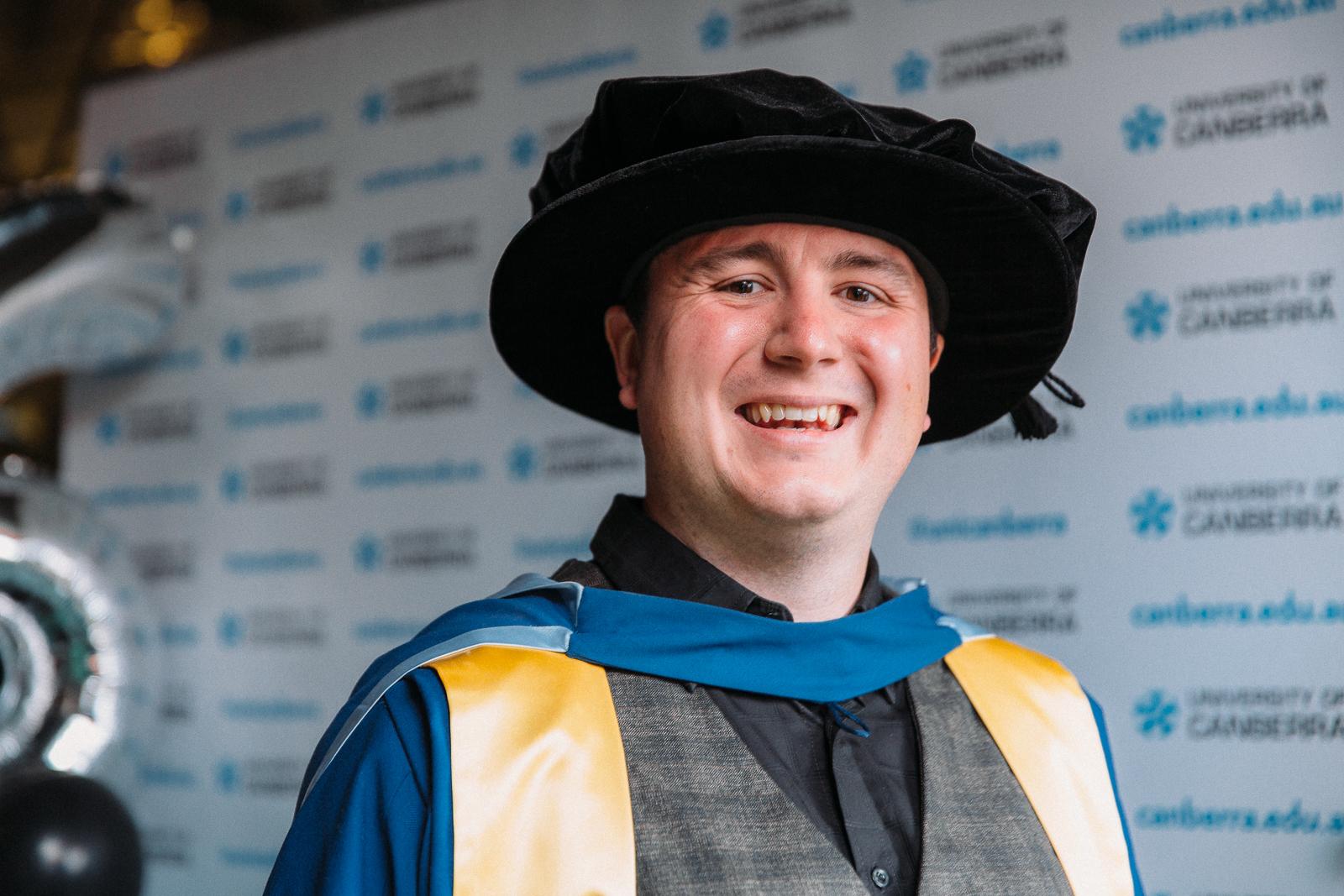 Dr Max Halupka at his graduation