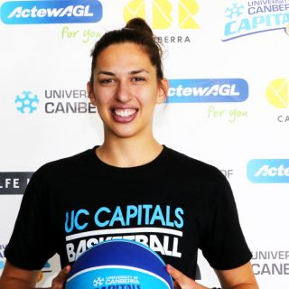 Image of Marianna Tolo who has signed a one-year deal with the UC Capitals