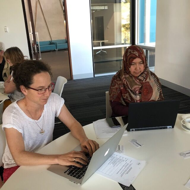 The writing workshop was an opportunity for participants to both step out of their comfort zones and contribute to building literacy in the next generation.