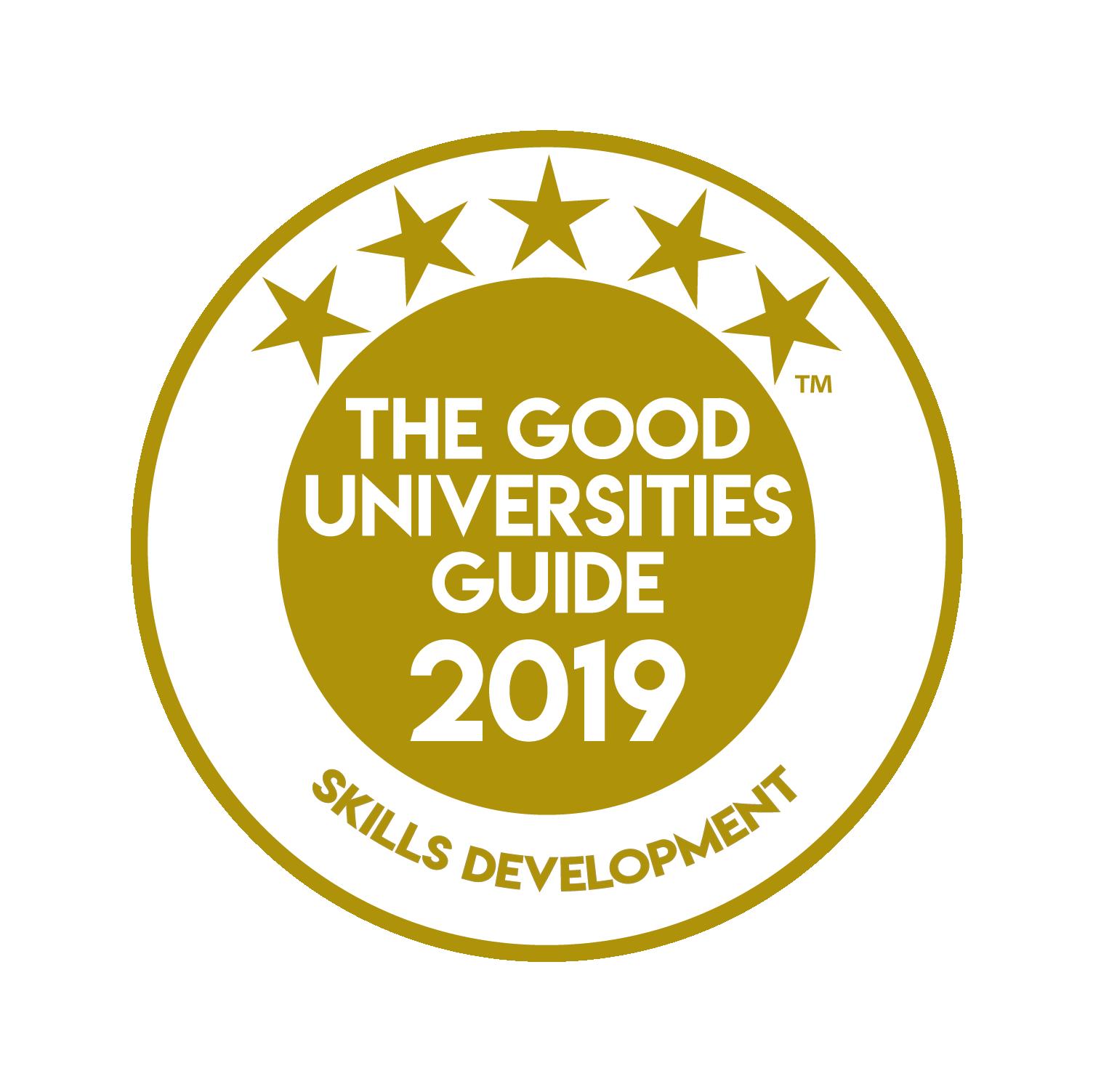 Good Universities 5 stars for skills development medal