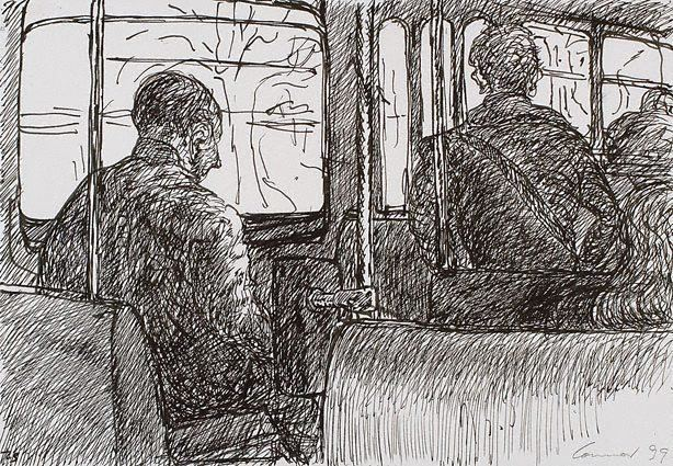 View from inside of a bus by Kevin Connor