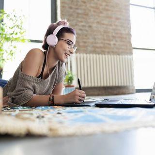 Creative using laptop
