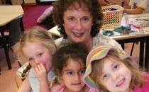 preschool kids with the director of wiradjuri