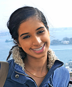 Journalism and law student Harveen Kaur at the NATO Youth Summit