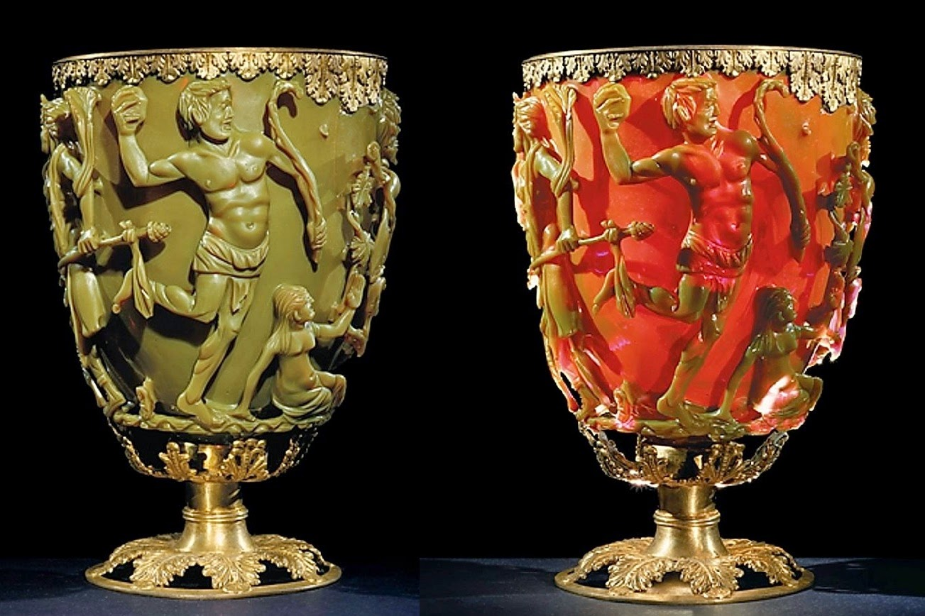 Roman glassware that changes colour from 500BC