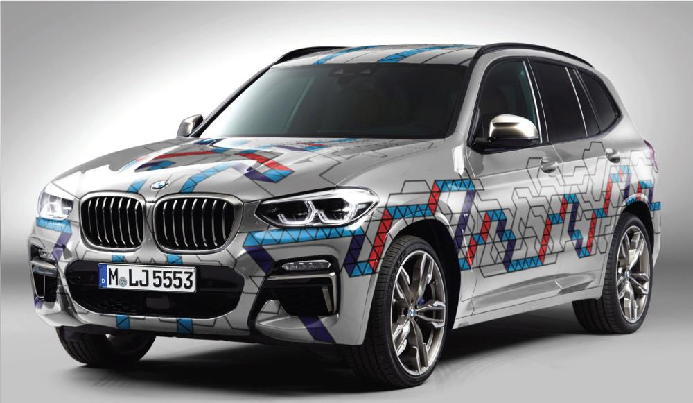 The BMW X3 with the design by UC student Zach Altose