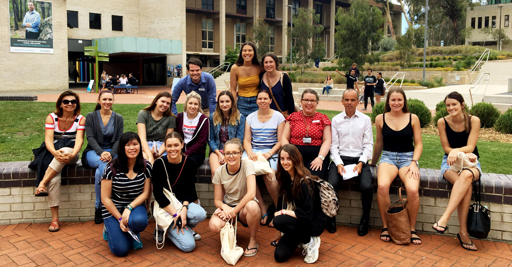 Members of the first cohort of the Bachelor of Occupational Therapy at the University of Canberra.
