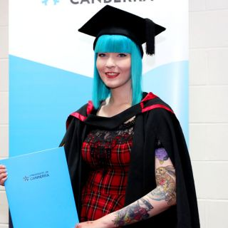 Leanne Duck with her education degree